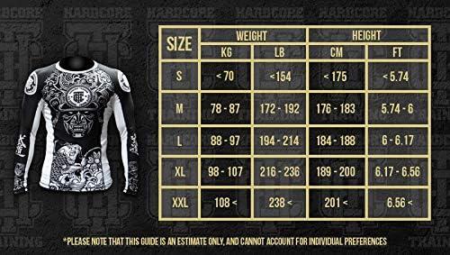 Rashguard Hardcore Training Lionheart MMA BJJ Fitness Grappling Camiseta de compresi/ón