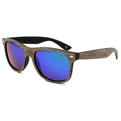 Highdas Bois Grain Glasses Fashion UV400 Homme Femme Lunettes de soleil Color 2 C0T07n91lZ