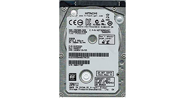 PN 0J23333 Hitachi 320GB SATA 2.5 Hard Drive HTS545032A7E380 MLC DA4837