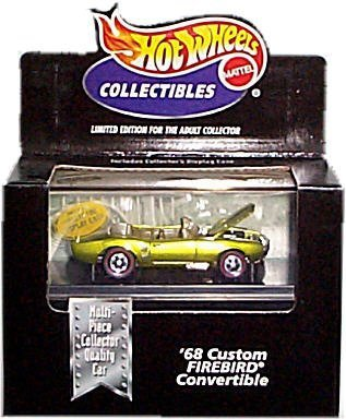 1968 Pontiac Trans Am - Hot Wheels Collectibles - Limited Edition Cool Collectibles - '68 Custom Firebird Convertible - Metalflake Light Green Body Color - Mounted in Collector's Display Case