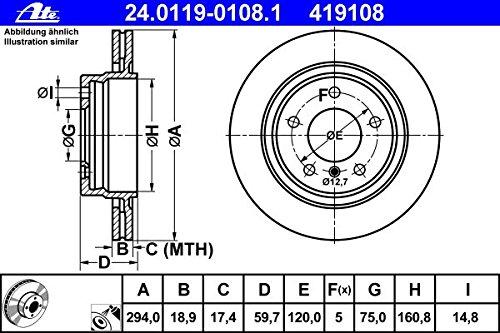 BEL/ÄGE+WARNKONTAKT HINTEN ATE BREMSSCHEIBEN 294mm