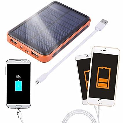 Amazon.com: iMeshbean® Cargador USB dual Solar Power Bank ...