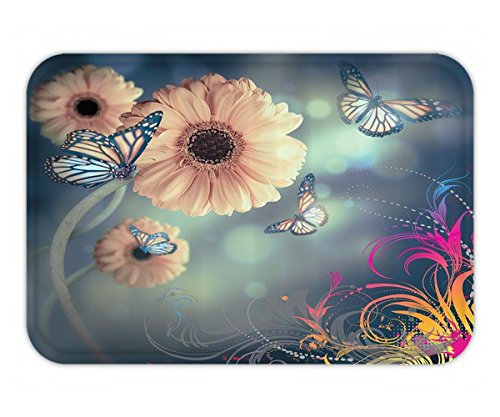 Beshowere Doormat Custom Colorful Heart Painting Cotton Linen Piece Original Price $ Promotion Price (Pretty Kitty Prices)