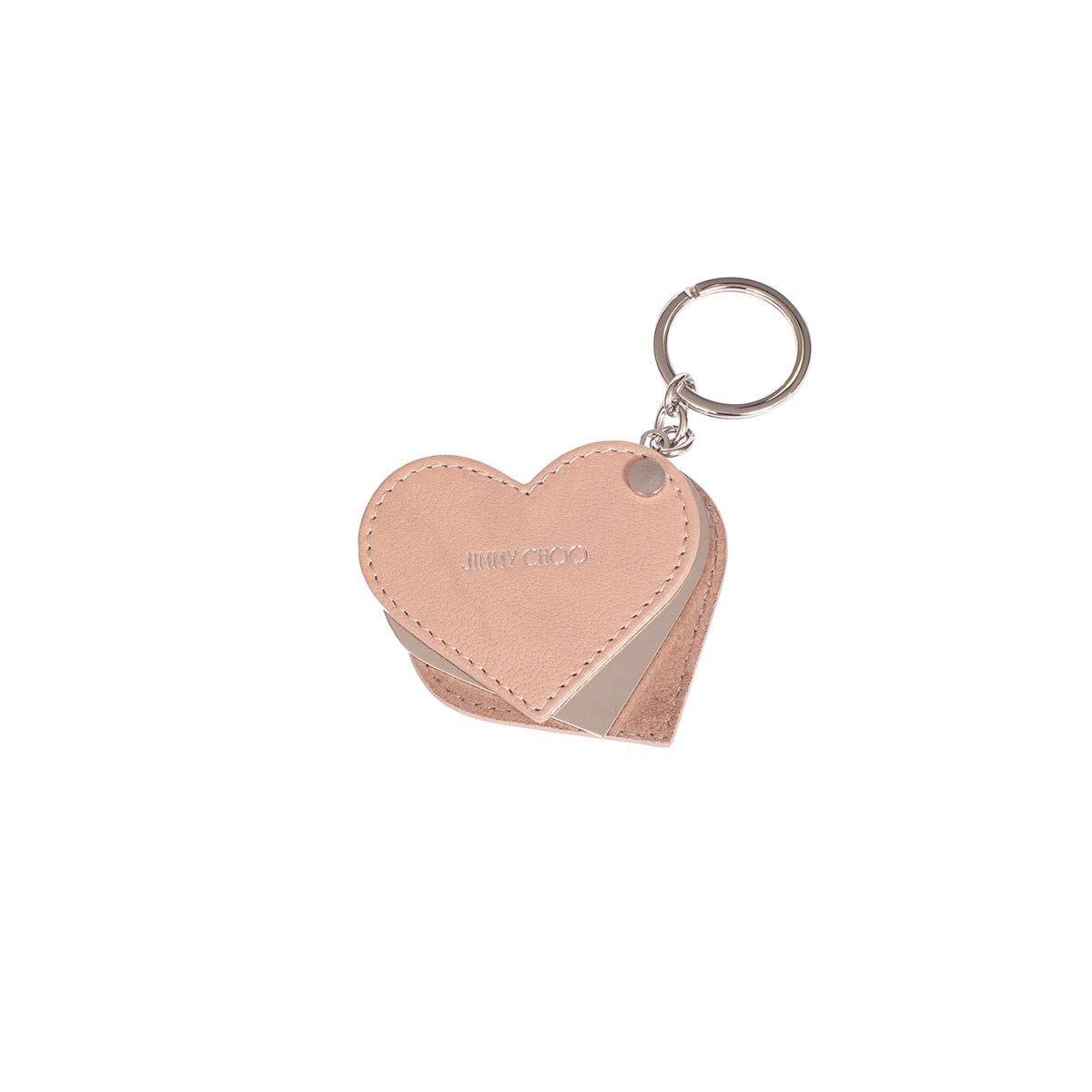 Jimmy Choo Women's Cecilelmt Pink Leather Key Chain