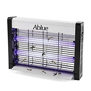 Ablue UV Electric Mosquito Zapper, Indoor Mosquito & Moths, Flies Killer, Powerful 2800V 20W UV Lamp - Eliminates Most Flying Pests for Residential & Commercial
