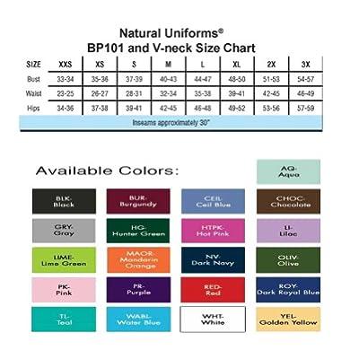Natural Uniforms Unisex Scrub Set - Medical Scrub Top and Pant