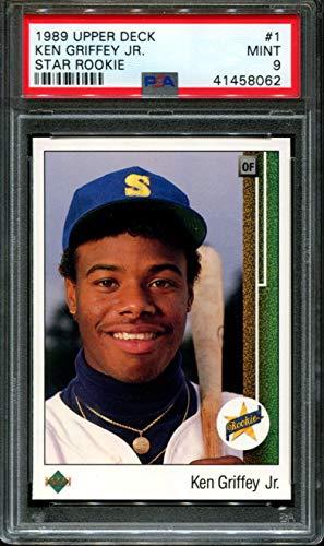 1989 Upper Deck #1 Ken Griffey Jr. Rookie RC MINT PSA 9 Graded Baseball ()