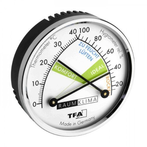 Price comparison product image TFA Aanlgoue Thermometer/ Hygrometer by TFA-Dostmann