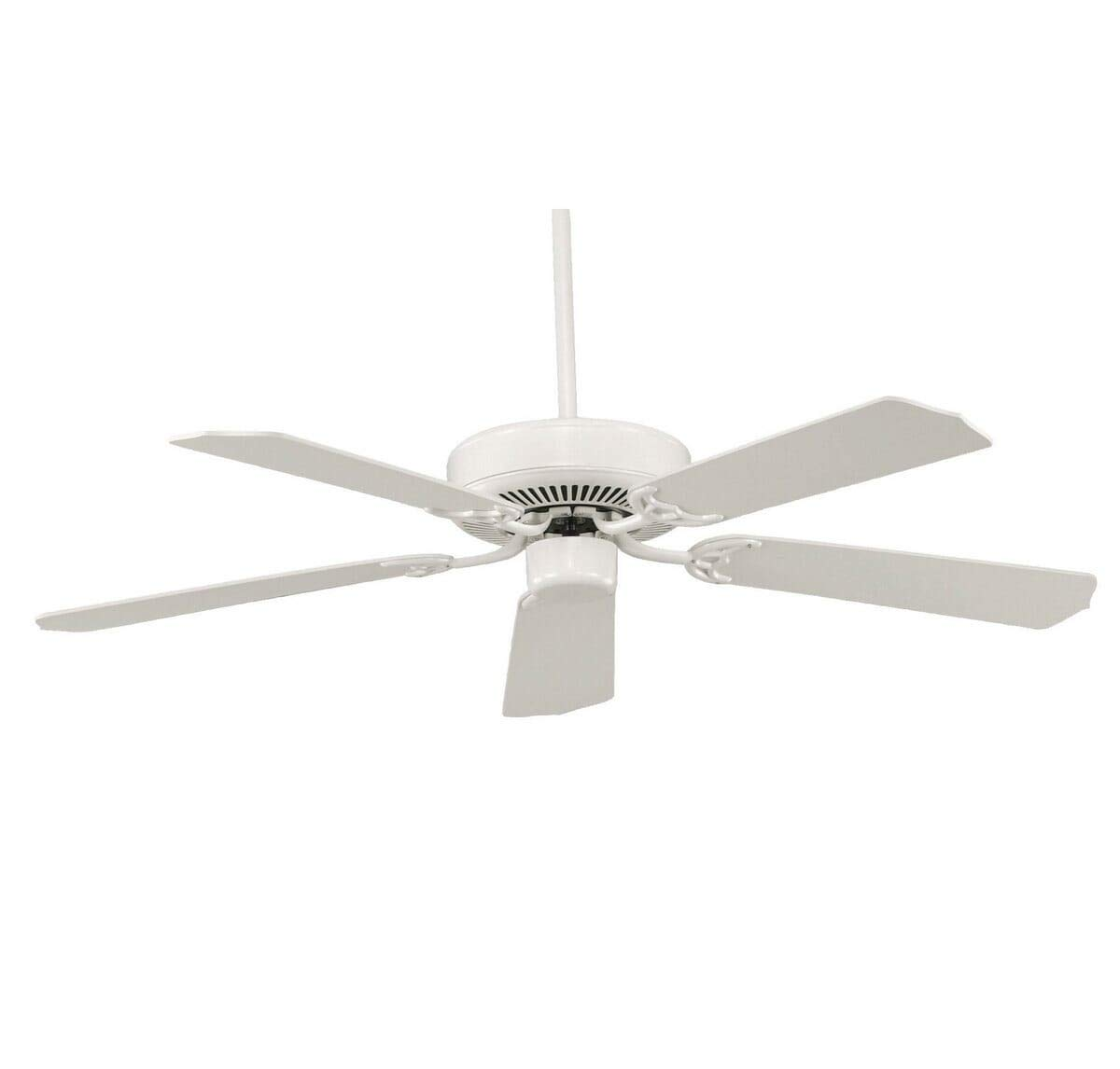 Savoy House 52-FAN-5W-WH Downrod Mount, 5 White Blades Ceiling fan, White