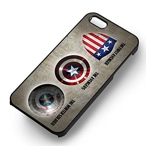 Captain America Shield pour Coque Iphone 6 et Coque Iphone 6s Case (Noir Boîtier en plastique dur) G3G2MN