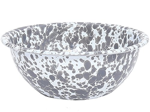 Enamelware - Set of 4 - Cereal Bowl - Grey Marble by Crow Canyon Home (Image #2)