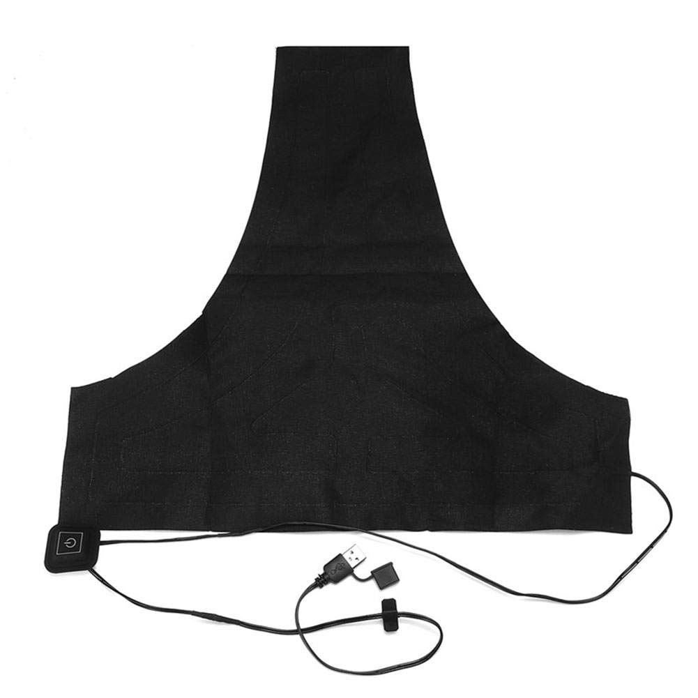 Laideyilan Electric Heating Vest Pad,USB 3 Level Temperature Adjustable Heating Pad DIY Thermal Clothing Heated Mat Outdoor