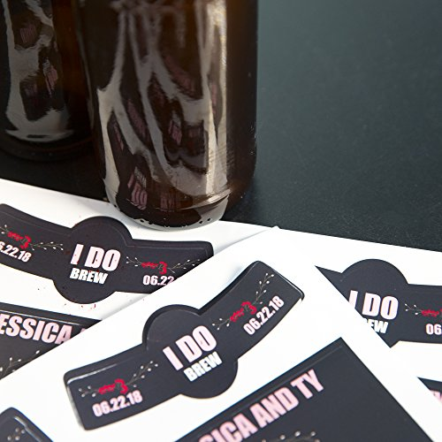 Neato Blank Beer Bottle Labels - 40 pack - Water Resistant, Vinyl, For InkJet Printers by Neato (Image #2)