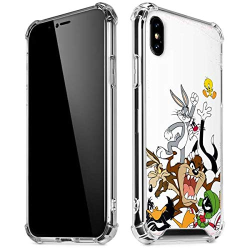 Skinit Looney Tunes All Together iPhone XR Clear Case - Officially Licensed Warner Bros Phone Case Clear - Transparent iPhone XR Cover