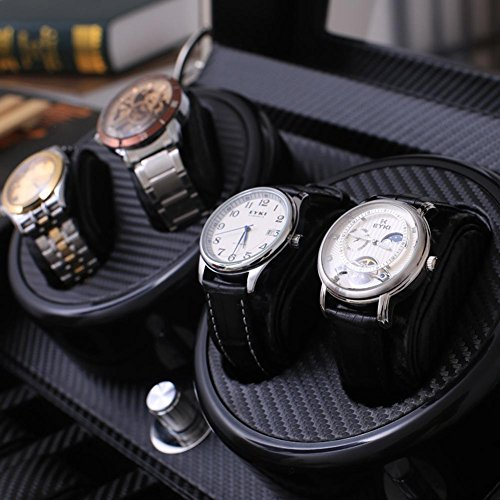 KAIHE-BOX Watch Winders Storage Display Box Case Organizer Jewellery Wristwatch with Cushion Watches drawer Watches for Men High Grade Luxurious Cover Box/Jewelry Drawer (electric motor shaking) 05 by KAIHE-BOX (Image #3)
