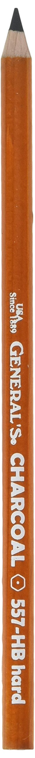 General's 557 Series Charcoal Pencils HB each [PACK OF 12 ]