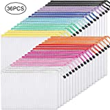 EOOUT Plastic Mesh Zipper Pouch Document Bag, 36pcs Plastic Zip File Folders in 11 Colors, Letter Size/A4 Size, for School Office Supplies, Travel Storage Bags