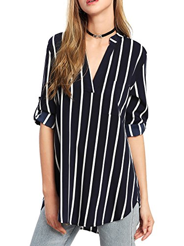 SheIn Womens Casual Curved Blouse
