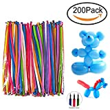 Maikerry Balloon Animals Kit Twisting Balloons with Pump Pack of 200 Long Balloons for Party Birthday Decoration
