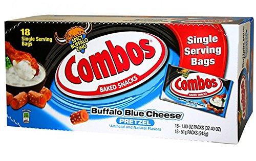 - Combos Buffalo Blue Cheese Pretzel Baked Snacks, 18 Count
