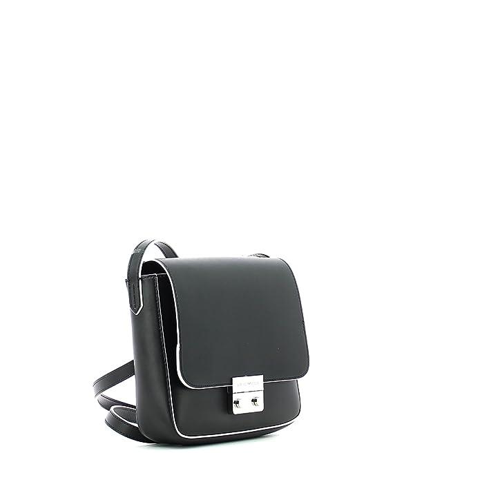5974194125 Emporio Armani Wilma Sling Black Cross-Body Bag Black Leather   Amazon.co.uk  Shoes   Bags