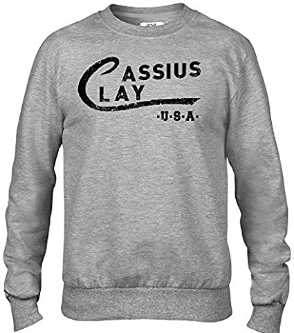 Cassius Clay Premium Homme Gris Sweat-Shirt