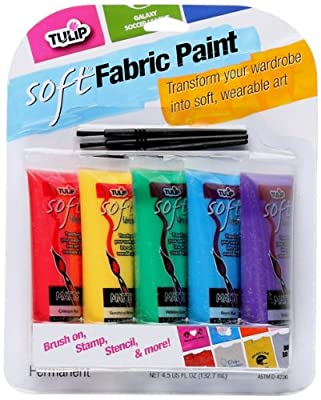 Tulip 29375 Soft Fabric Paint, 5-Pack from ilovetocreate