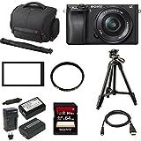 Sony a6300 Mirrorless Digital Camera w/ 16-50mm f/3.5-5.6 Lens & 64 GB SD Card Bundle