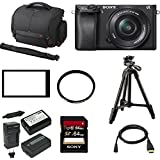Sony a6300 Mirrorless Digital Camera w/ 16-50mm f/3.5-5.6 Lens & 64 GB SD Card Bundle