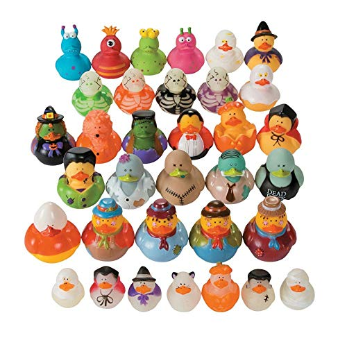 Halloween Rubber Duck (Halloween Rubber Duckie Assortment (50 ducks) Bulk Party)
