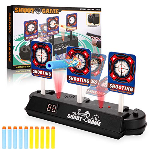 Anguslvy Electric Scoring Auto Reset Shooting Digital Target for Nerf Guns Blaster...