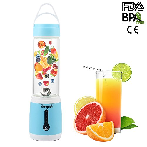 Beauty Smoothie Blender, Dongcoh Juicier Bullet Blender Portable Personal USB Rechargeable, Baby Food Grade Material, Small Blender, Camping, Travel, Car Trips