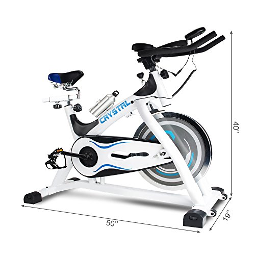 URSTAR Ultra-silence Exercise Bike with LCD Monitor and Shock Absorber for Health and Fitness