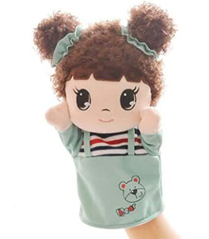 Amazon Lovely Girl With Cloth Puppets Cartoon Pattern Hand Inspiration Hand Puppet Pattern