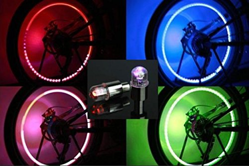 Premium Led Lights For Wheel Valve Caps Lights For Bike Wheels 2PCS Firefly Spoke LED Wheel Valve Stem Cap Tire Motion Neon Light Lamp For Bike Bicycle Car Motorcycle Lights For Car