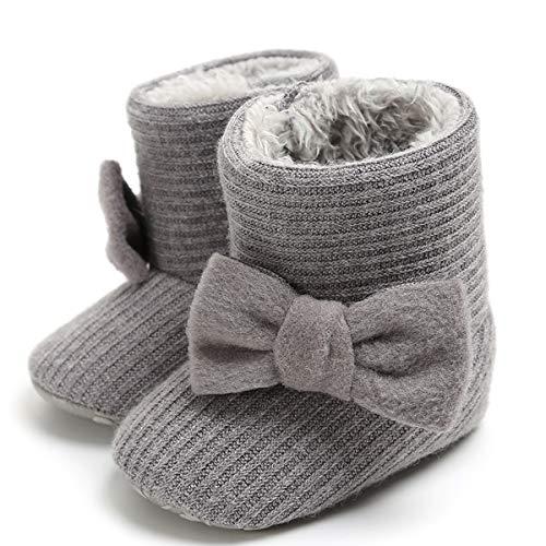 d95af7ad4bd72 LIVEBOX Newborn Baby Cotton Knit Booties,Premium Soft Sole Bow Anti-Slip  Warm Winter