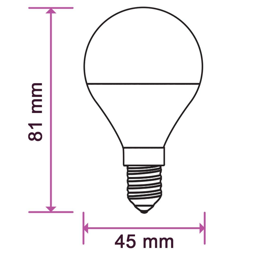 - luz blanca 6400K Bombilla LED Conjunto de 10 E14 ZoneLED SET 5.5W Equivalente incandescente 40W /Ángulo de haz 180/° 470 lm SAMSUNG CHIP