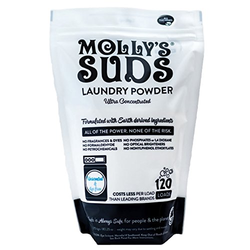 (Molly's Suds Unscented Laundry Detergent Powder, 120 Loads, Natural Laundry Soap for Sensitive Skin)