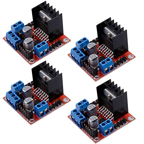 Qunqi 4Packs L298N Dual H Bridge Stepper Motor Drive Controller Board Module for Arduino Smart -