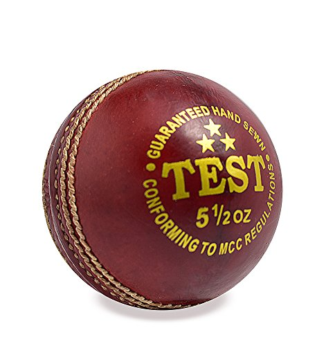 SUNLEY Leather Test Cricket Ball  Red