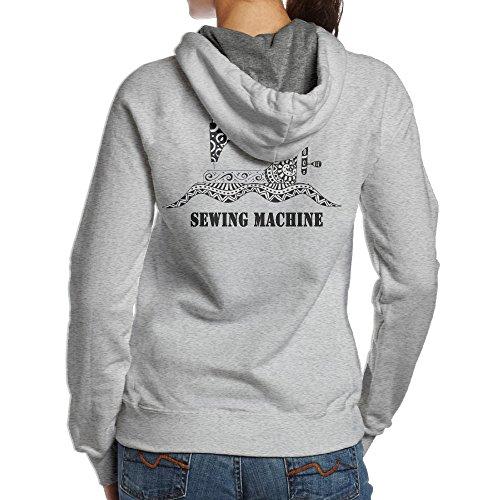 YYUCGH Sewing Machine Women's Pullover Hoodie Sweatshirts M Ash