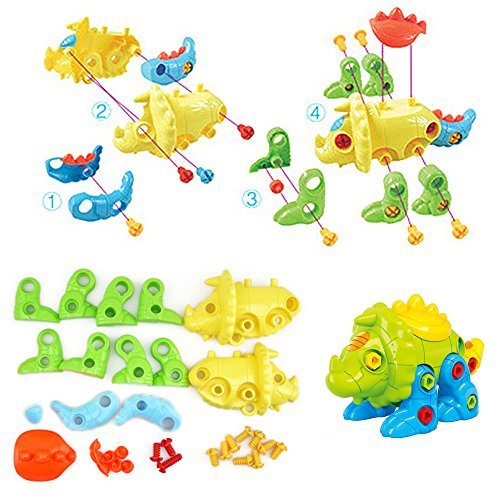 DIY TOYS, CAILLU DIY STEM Learning Toys (68 pieces), Take Apart Fun (Pack of 3), Construction Engineering Building Play Set For Boys Girls Toddlers, Best Toy Gift Kids Ages 3yr - 6yr