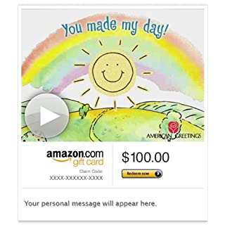 Amazon Gift Card - E-mail - Thanks, You Made My Day (Animated) [American Greetings] (B00BWDHAFC) | Amazon price tracker / tracking, Amazon price history charts, Amazon price watches, Amazon price drop alerts