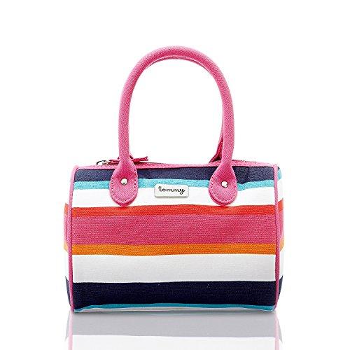 Tommy Hilfiger Big Girl's Summer Stripe Satchel Bag (Sumer)