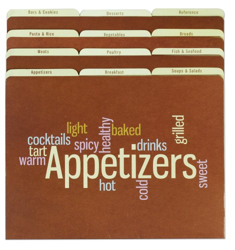 Meadowsweet Kitchens Recipe Organizer File Folder Set - Wordle (Recipe File)
