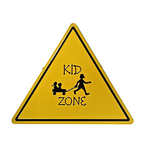 T-ray Retro Metal Tin Signs KID ZONE Shaped Hainging Poster