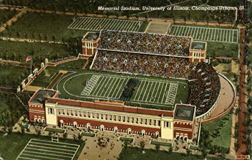 Memorial Stadium, University of Illinois Urbana Original Vintage Postcard