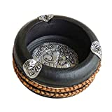 Ashtrays Southeast Asia Style Process Gifts Mango Wood Carving Bamboo Decoration Creative Personality (Size : 15cm)
