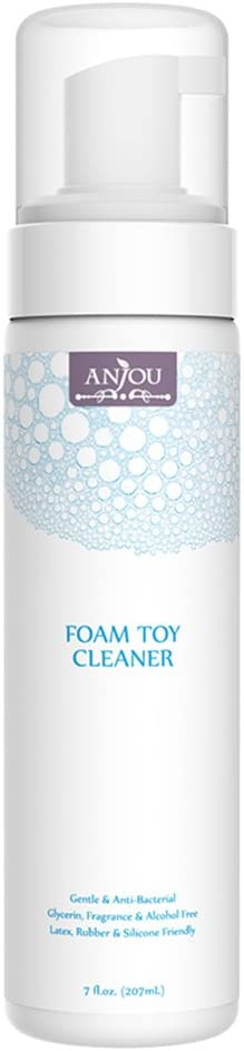 Anjou Toy Cleaner, 7 oz Foamy Bottle, Water Based, Fragrance-Free, Paraben-Free
