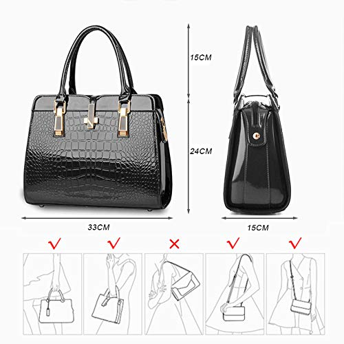 Black Handbags Bags PU Shoulder Leather BestoU Crossbody Ladies Women Aq7FcwR